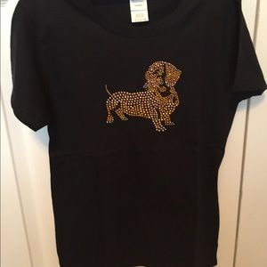 Dachshund Rhinestone T-Shirt